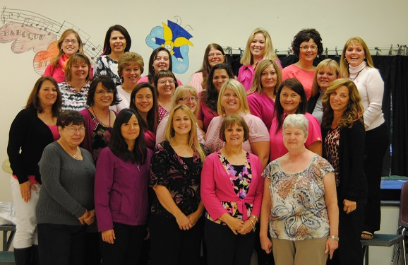 Salmon River Elementary Goes Pink for Cancer Awareness