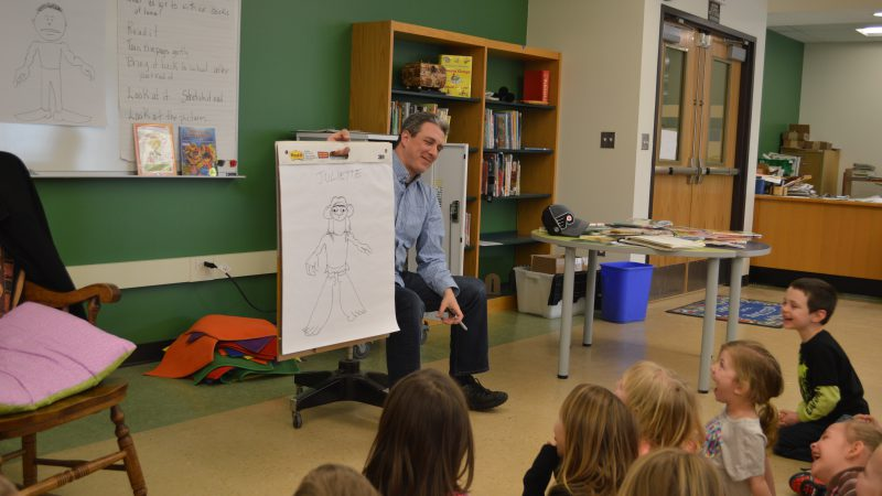 Author and Illustrator Visits Salmon River Elementary