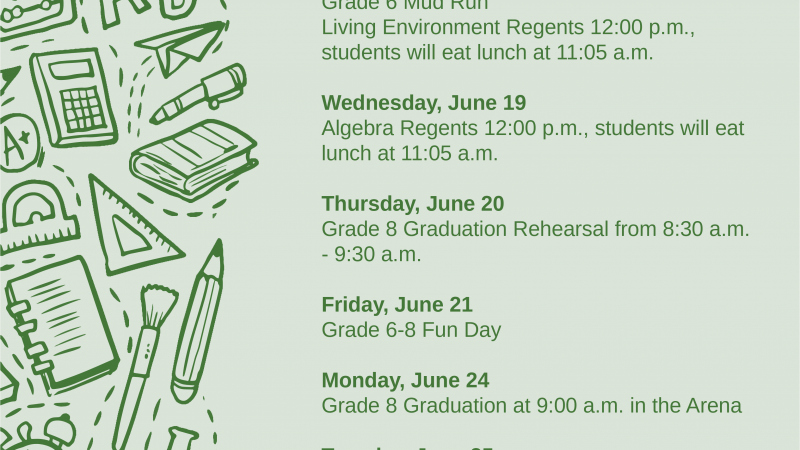Salmon River Middle School Events