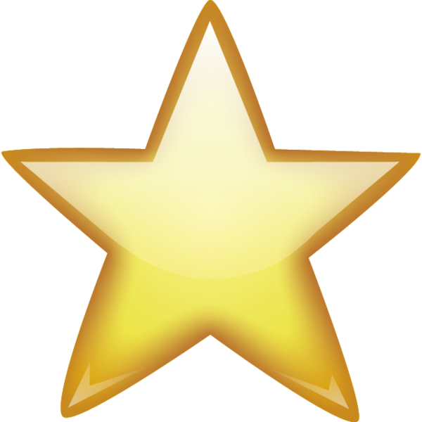 gold five point star icon
